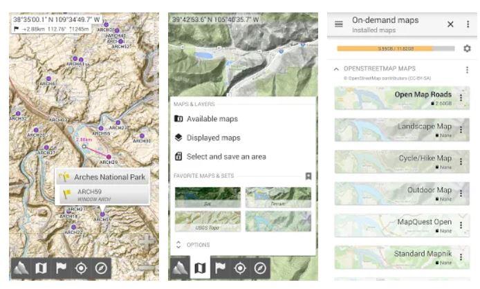 AlpineQuest l'application GPS gratuite de randonnée sur Android