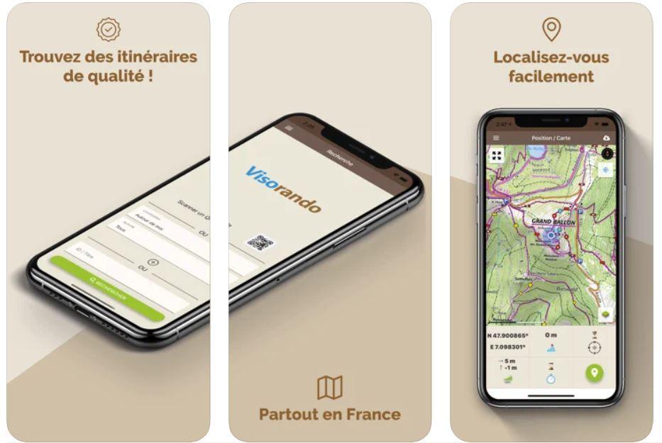 Visarando l'Application gratuite GPS randonnée