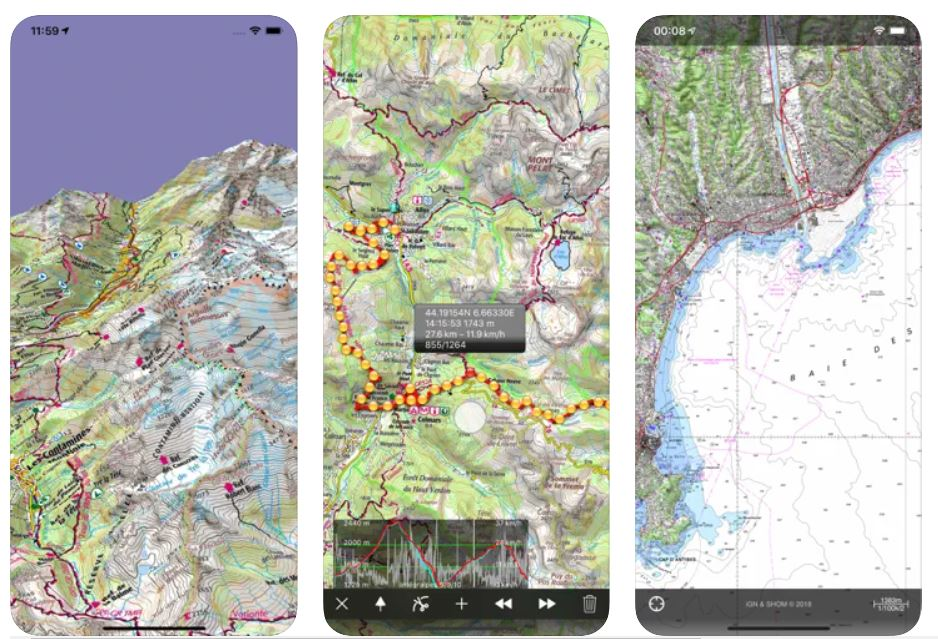 iphigenie appli rando gratuite GPS