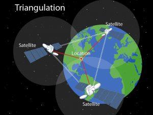 Triangulation d'un GPS de randonnée