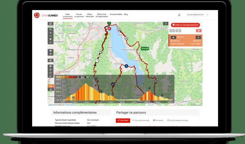 openrunner top vélo vtt app